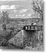Stand By Me - Paint Bw Metal Print