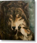 Stand By Me - Wolves Metal Print