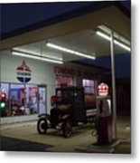 Standard Oil Museum After Dark 20 Metal Print