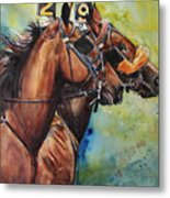 Standardbred Trotter Pacer Painting Metal Print