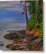 Standing By The Sea Metal Print