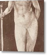 Standing Female Nude With Baton In The Right Metal Print