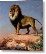 Standing Lion Metal Print