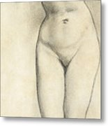 Standing Nude Metal Print