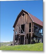 Standing Old Wooden Barn  Metal Print