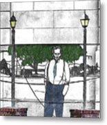 Standing On A Corner In Asheville Carolina Metal Print