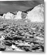 Standing On Lake Michigan Ice Metal Print