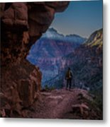 Standing On The Edge Of The Earth Metal Print