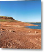 Standing On The Lakebed Metal Print
