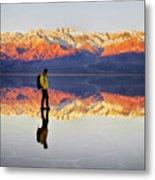Standing On Water Metal Print