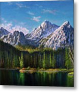 Stanley Lake Reflections Metal Print