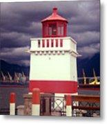 Stanley Park Lighthouse Metal Print