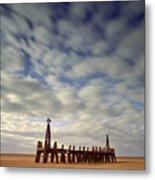 St.annes Beach, Lancashire, England Metal Print