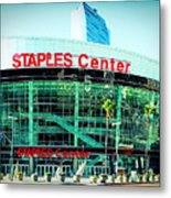 Staples Center Color Metal Print