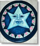 Star Face Lazy Susan Metal Print