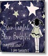 Star Light Star Bright Chalk Board Nursery Rhyme Metal Print