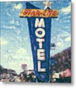 Star-lite Motel Metal Print
