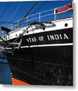 Star Of India Tall Ship San Diego Bay Metal Print