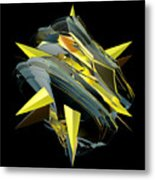 Star Of Yellow Metal Print