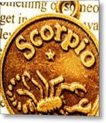 Star Sign In Scorpio Metal Print