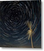Star Trail In Hays, Ks Metal Print