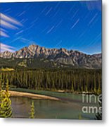 Star Trails Above The Front Ranges Metal Print
