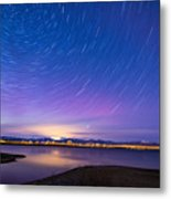 Star Trails And Auroras Metal Print