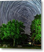Star Trails At Sunken Meadow State Park Metal Print