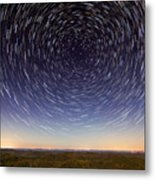 Star Trails Over Mountains Metal Print