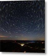 Star Trails Over Whitesburg Metal Print