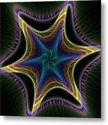 Star Twist Spiral Metal Print