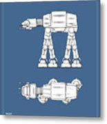 Star Wars - At-at Patent Metal Print