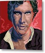 Star Wars Han Solo Pop Art Portrait Metal Print