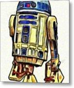 Star Wars R2d2 Droid - Da Metal Print