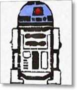 Star Wars R2d2 Droid Robot Metal Print