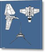 Star Wars - Shuttle Patent Metal Print