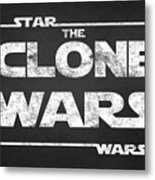 Star Wars The Clone Wars Chalkboard Typography Metal Print