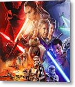 Star Wars The Force Awakens Artwork Metal Print