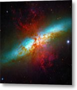 Starburst Galaxy M82 Metal Print
