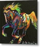 Starburst Pony Metal Print