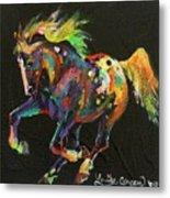 Starburst Pony Metal Print