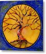 Stardust Tree Metal Print