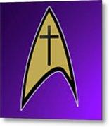Starfleet Pastor  Metal Print