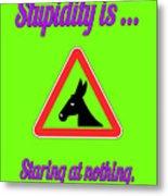 Staring Bigstock Donkey 171252860 Metal Print