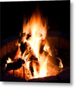 Staring Into The Fire Metal Print