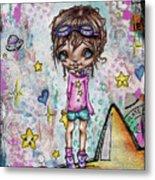 Starla Jones The 3rd Intergalactic Star Jumper Metal Print