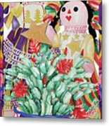 Starring The Christmas Cactus Metal Print