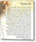 Starry Guardian Angel Desiderata Metal Print