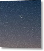 Starry Morning Sky Metal Print