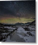 Starry Night In Iceland Metal Print